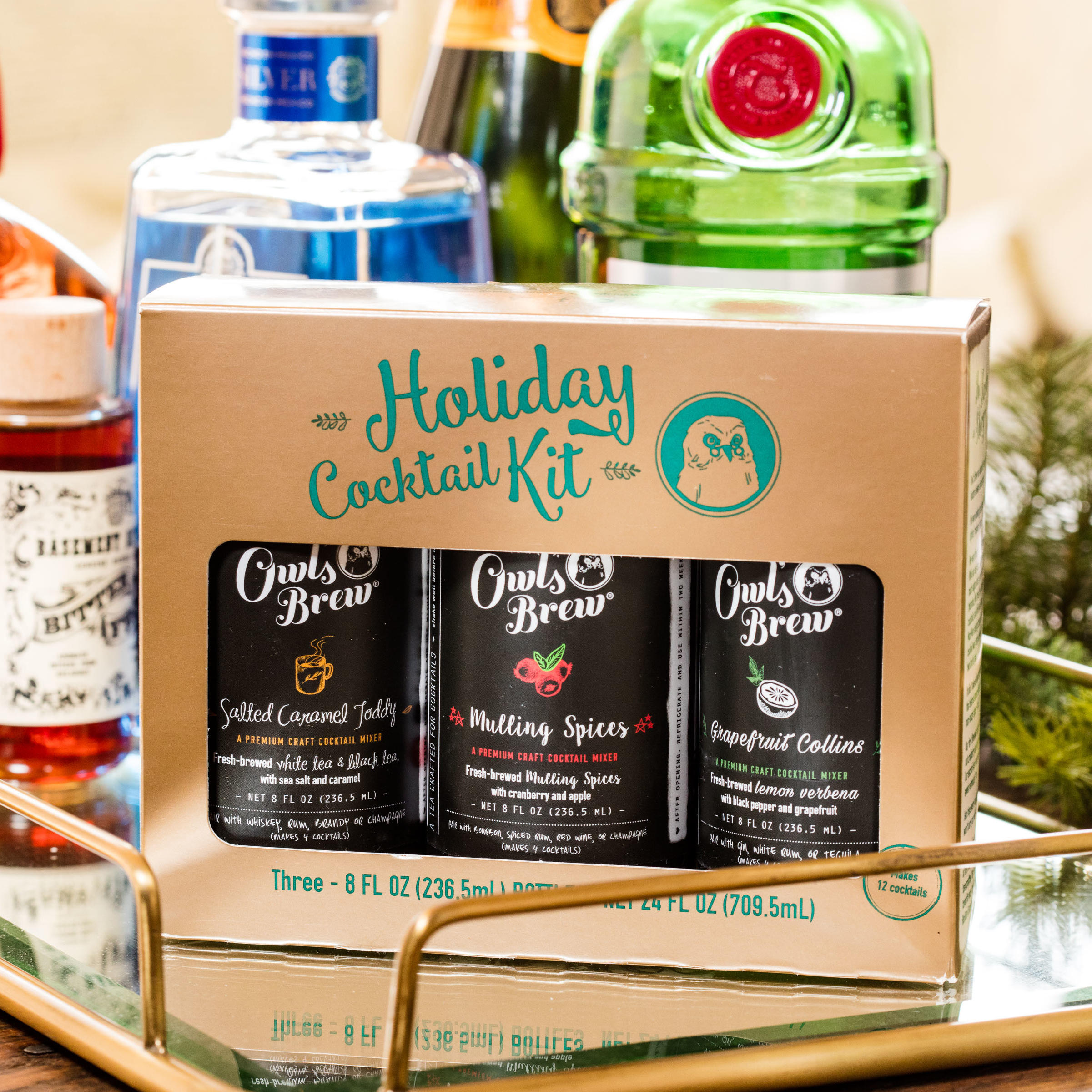 Owl's Brew Holiday Cocktail Mixer Kit
