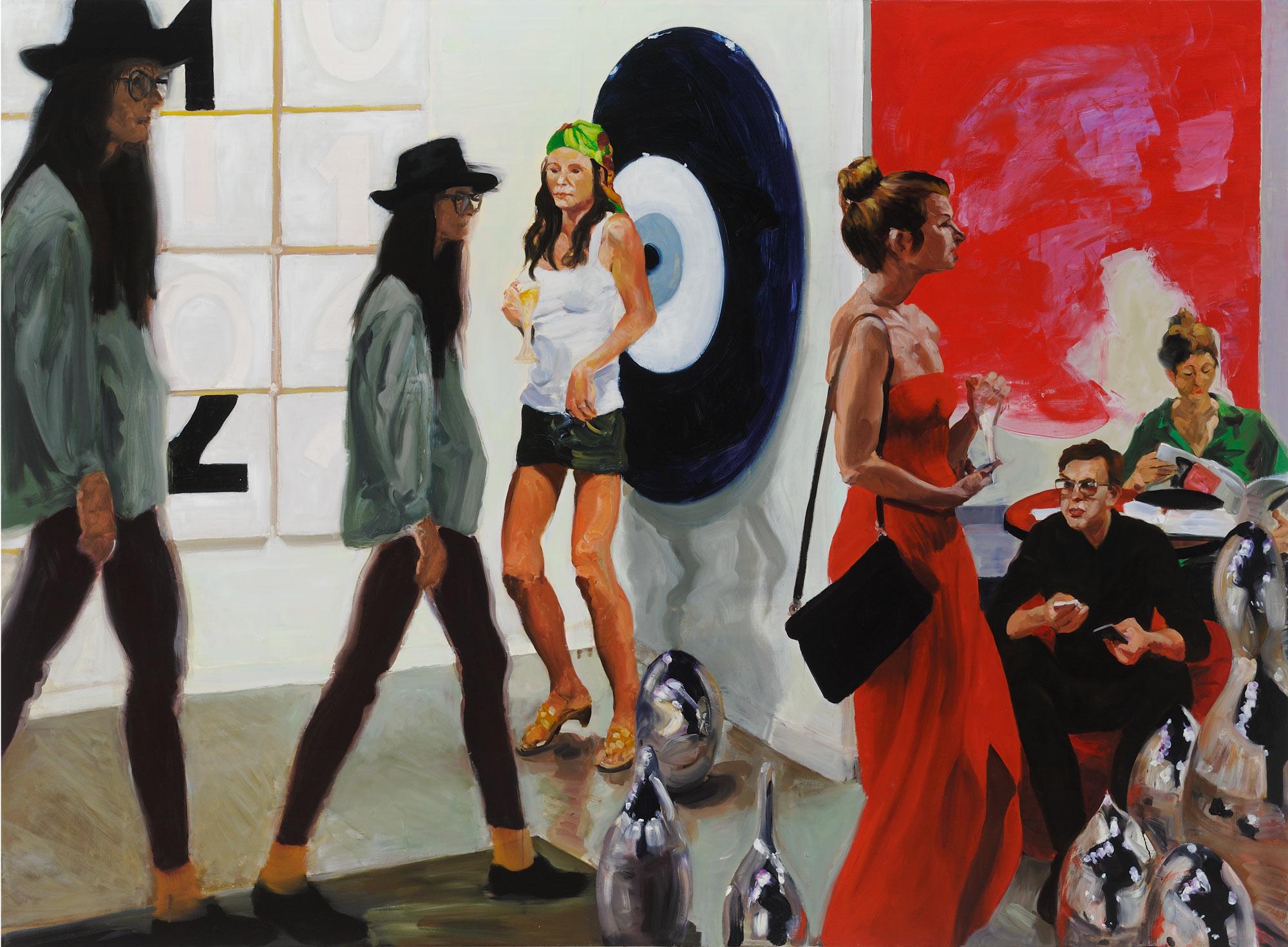 Art Fair: Booth #1 Play/Care, 2013. Oil on Linen. 82 x 112 in. (208 x 284 cm.)