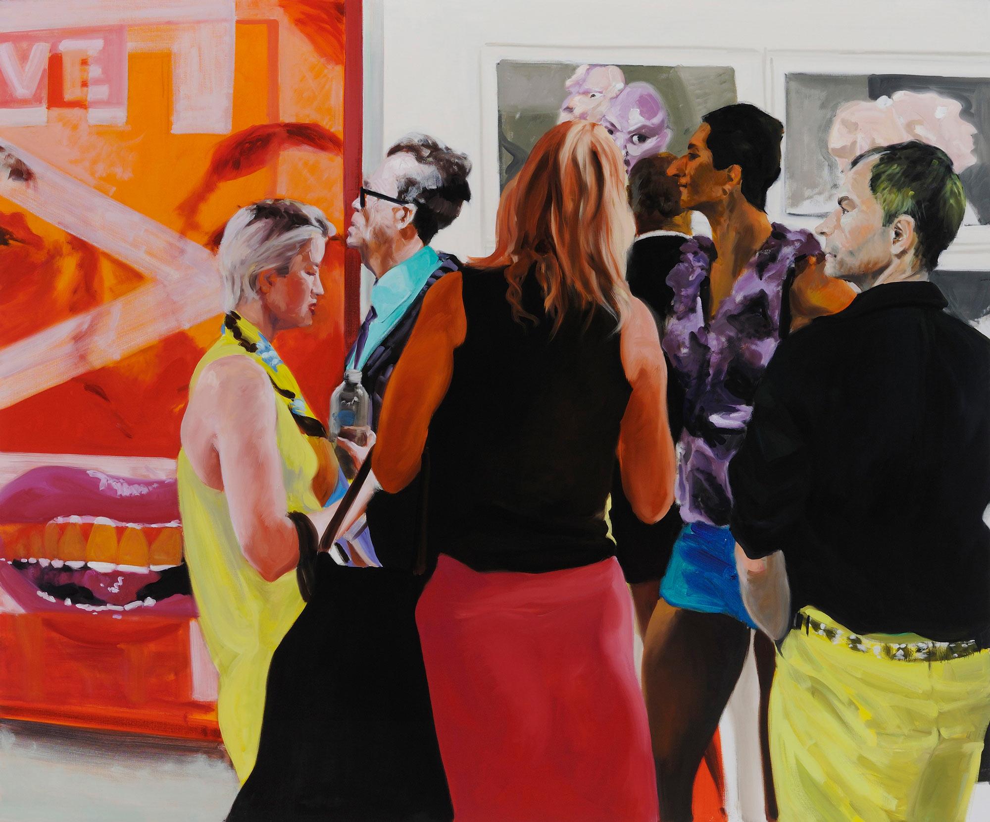 Art Fair: Booth #22 Evil Live, 2013. Oil on Linen 68 x 82 in. (173 x 208 cm.)