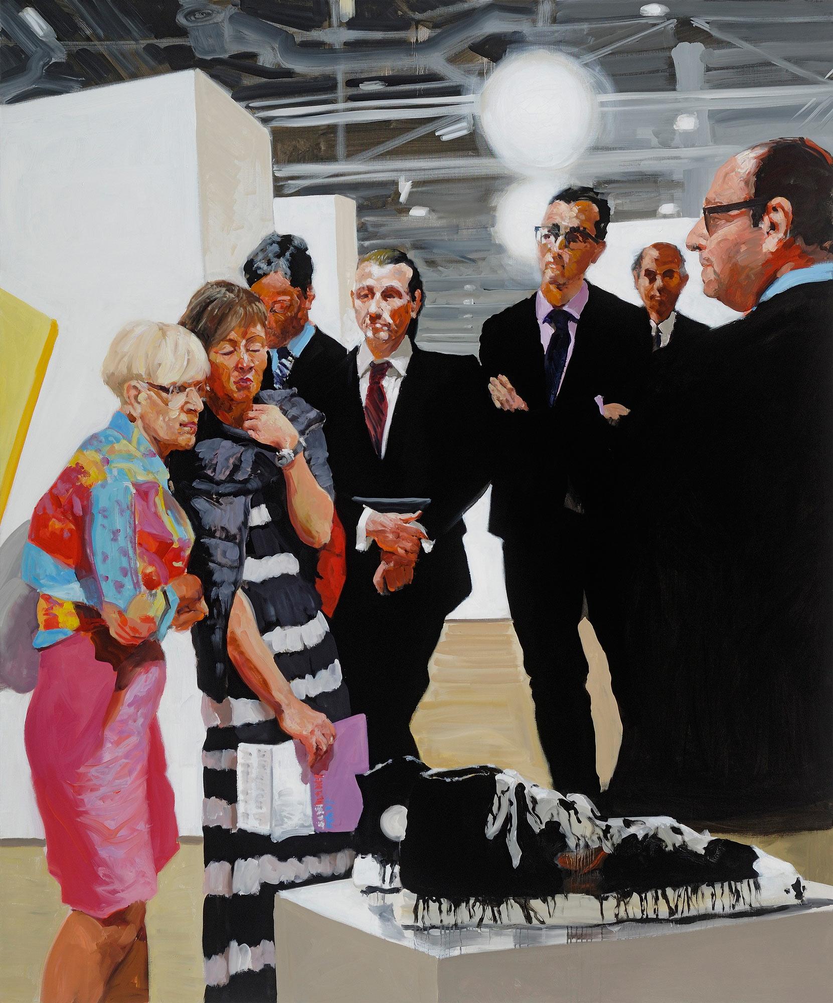 Art Fair: Booth #1 Oldenburg's Sneakers, 2013. Oil on Linen 82 x 68 in. (208 x 284 cm.)