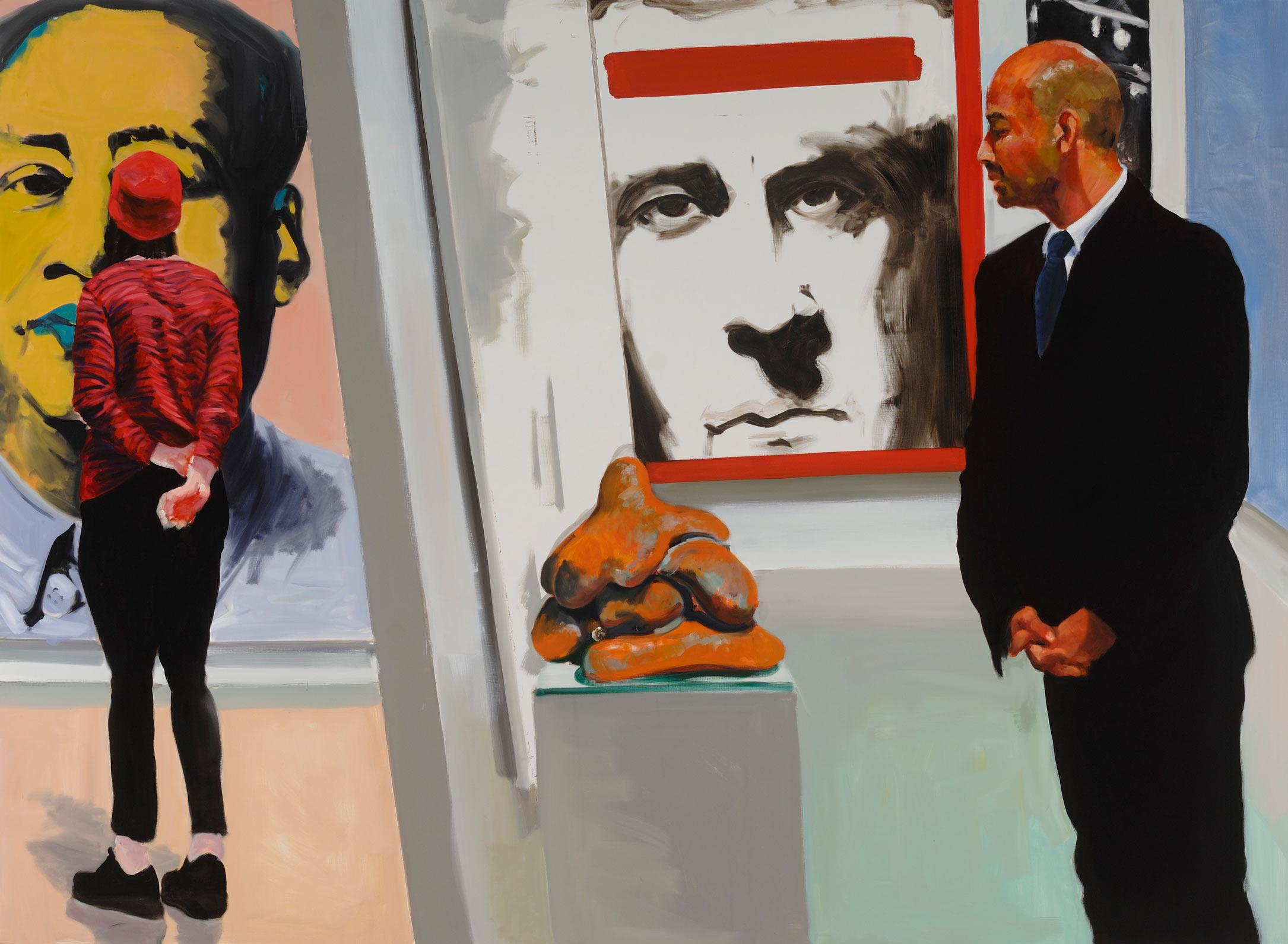 Art Fair: Booth #16 Sexual Politics, 2014. Oil on Linen. 82 x 112 in. (208 x 284 cm.)