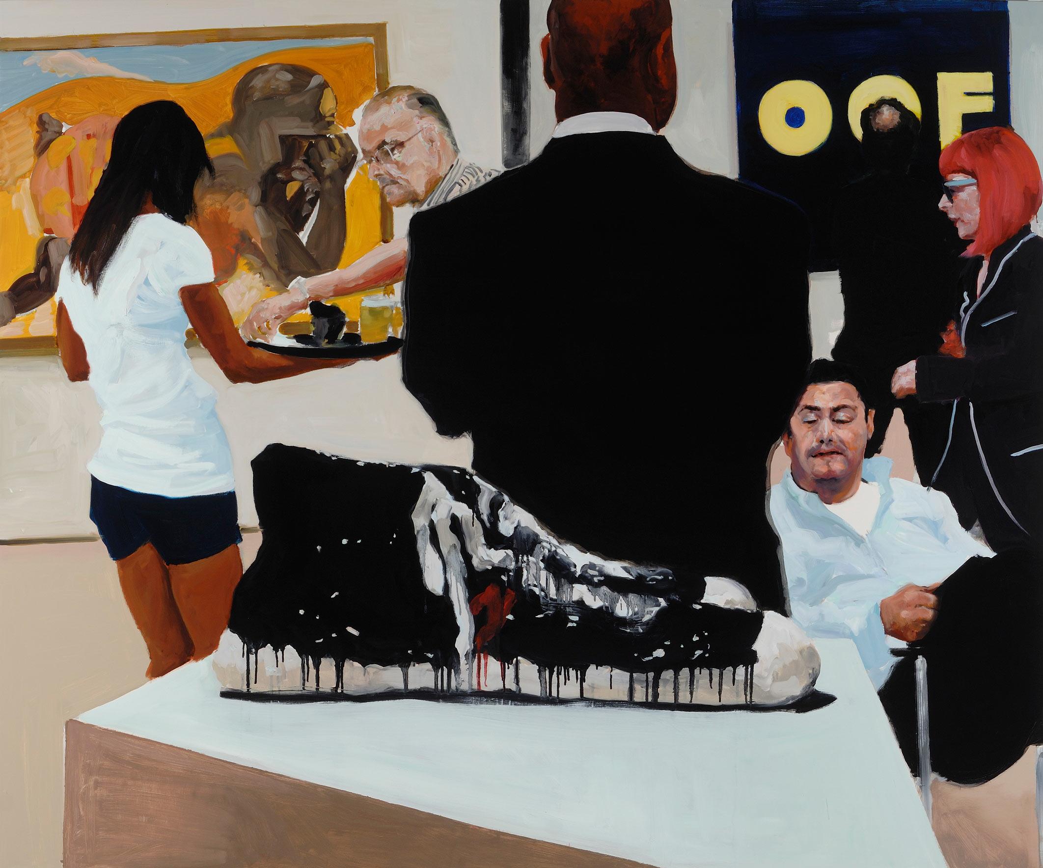 Art Fair: Booth #15  OOF, 2014. Oil on Linen. 68 x 82 in. (173 x 208 cm.)