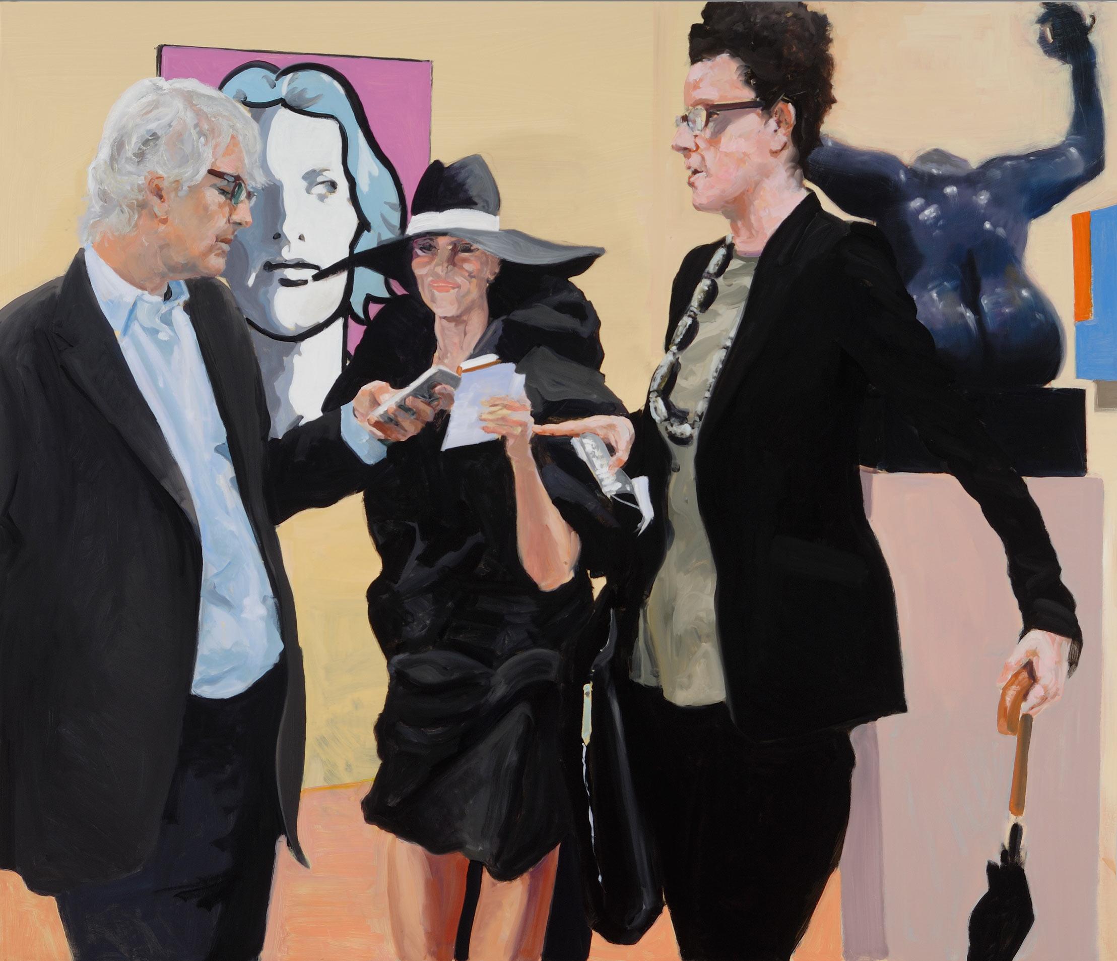 Art Fair: Booth #17 Instructions, 2014. Oil on Linen. 70 x 82 in. (178 x 208 cm.)