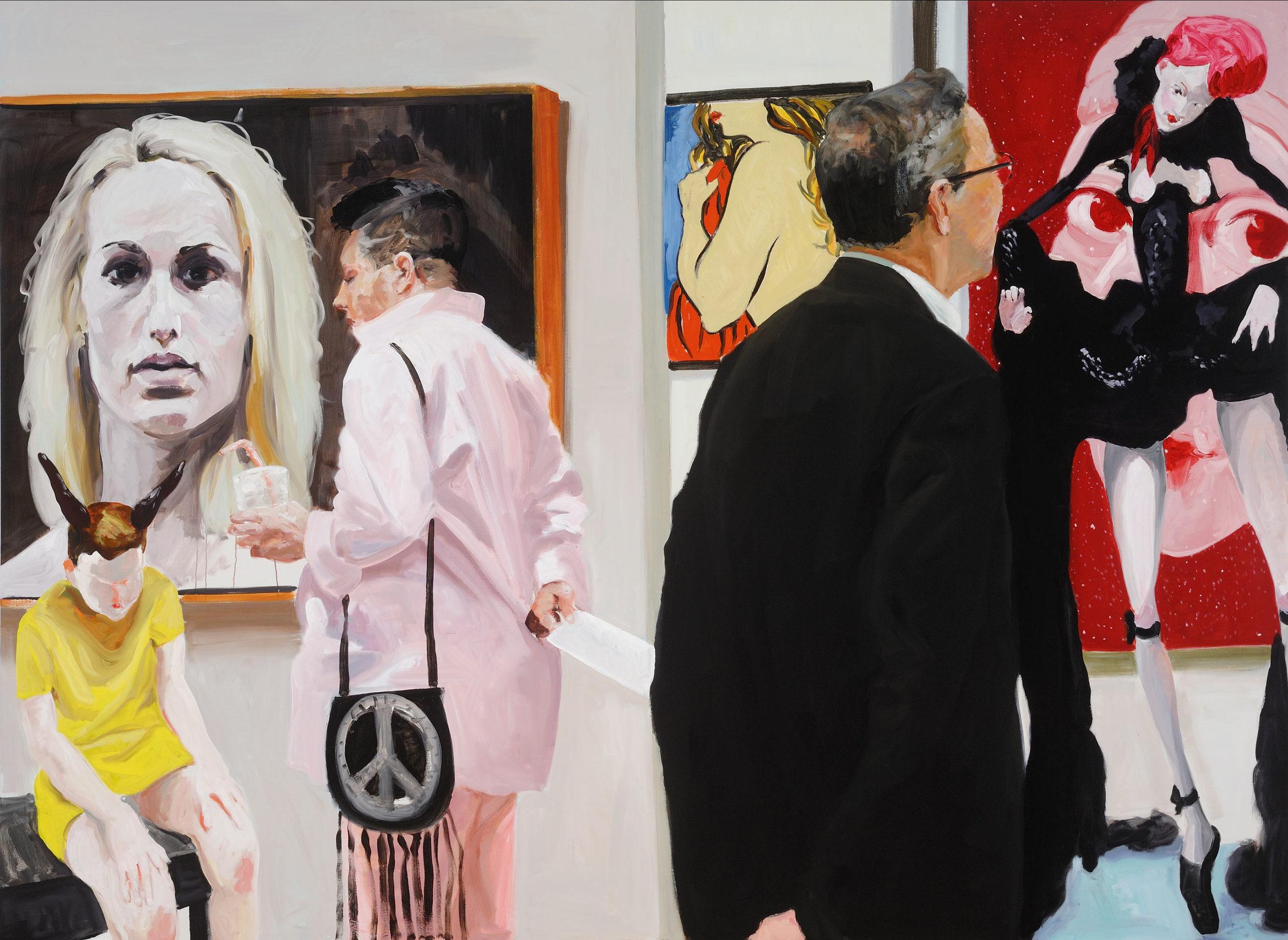 Art Fair: Booth #10 Booty, 2014. Oil on Linen. 82 x 112 in. (208 x 284 cm.)