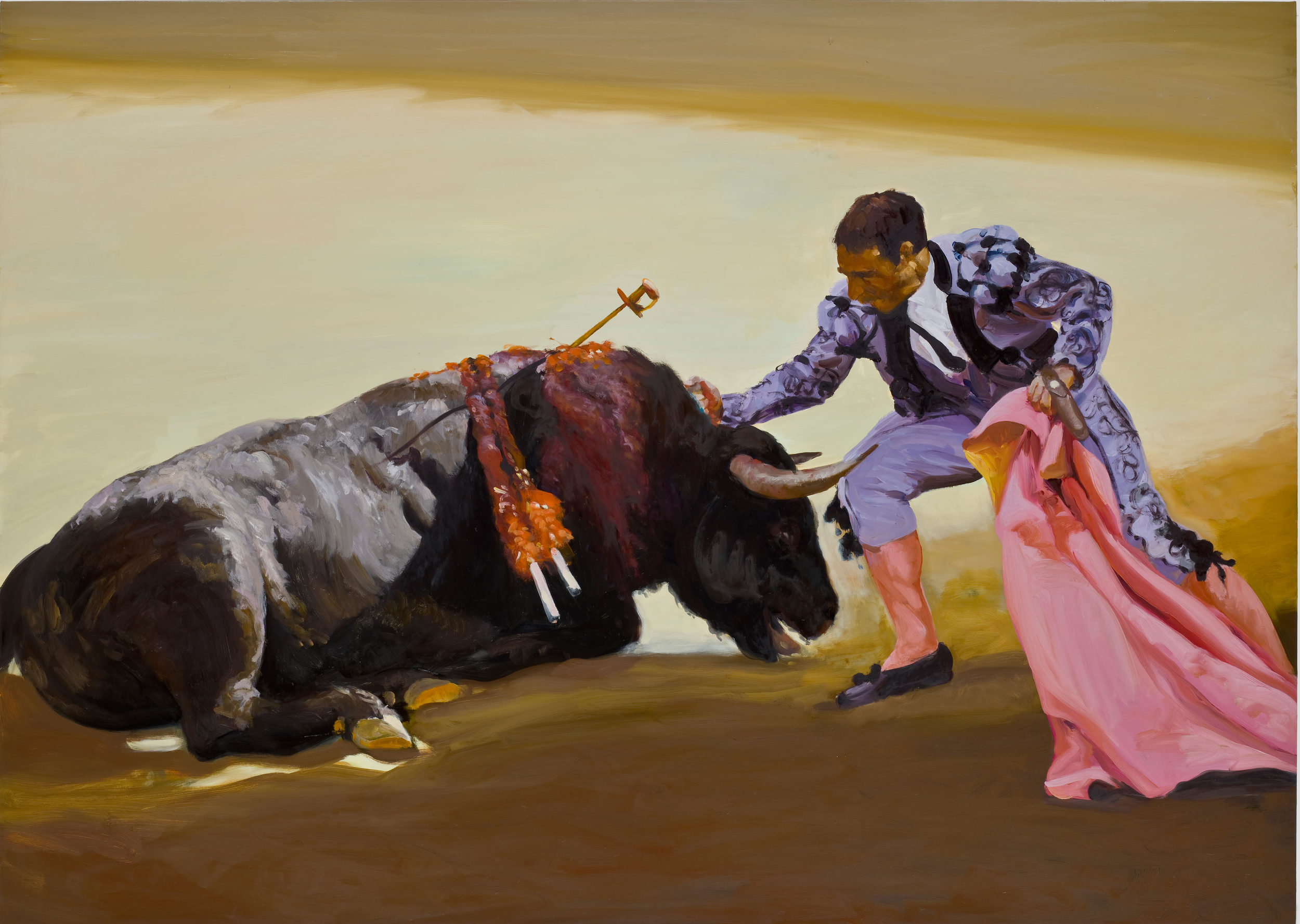Corrida in Ronda #1, 2008. Oil on linen. 77 x 108 in. (196 x 274 cm.)