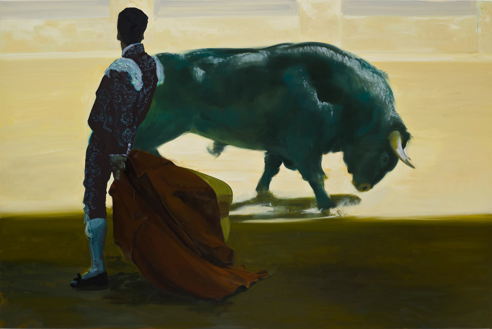Corrida in Ronda #3, 2008. Oil on Linen. 72 x 108 in. (183 x 274 cm.)