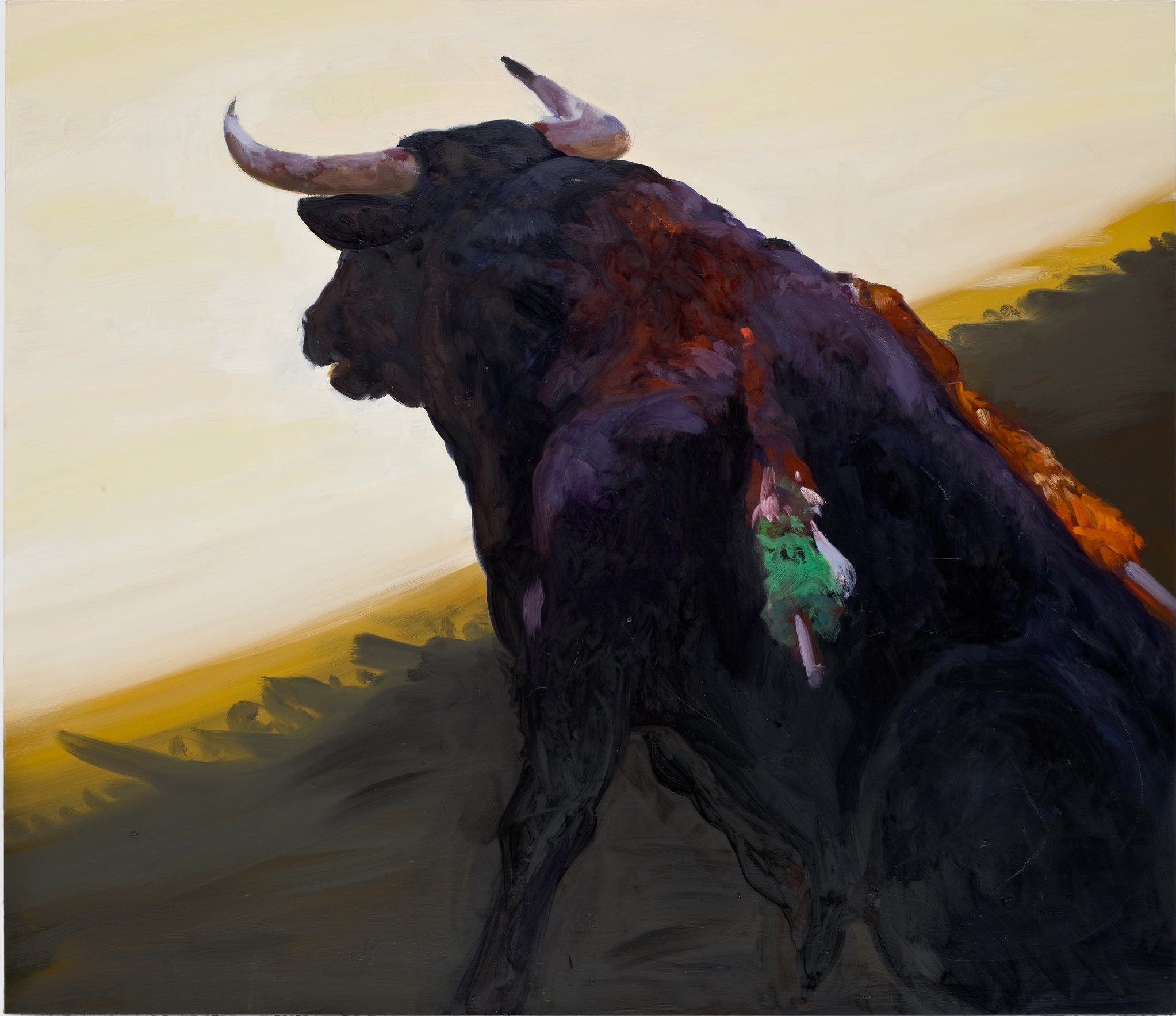 Corrida in Ronda #5, 2008. Oil on Linen. 52 x 60 in. (132 x 152 cm.)