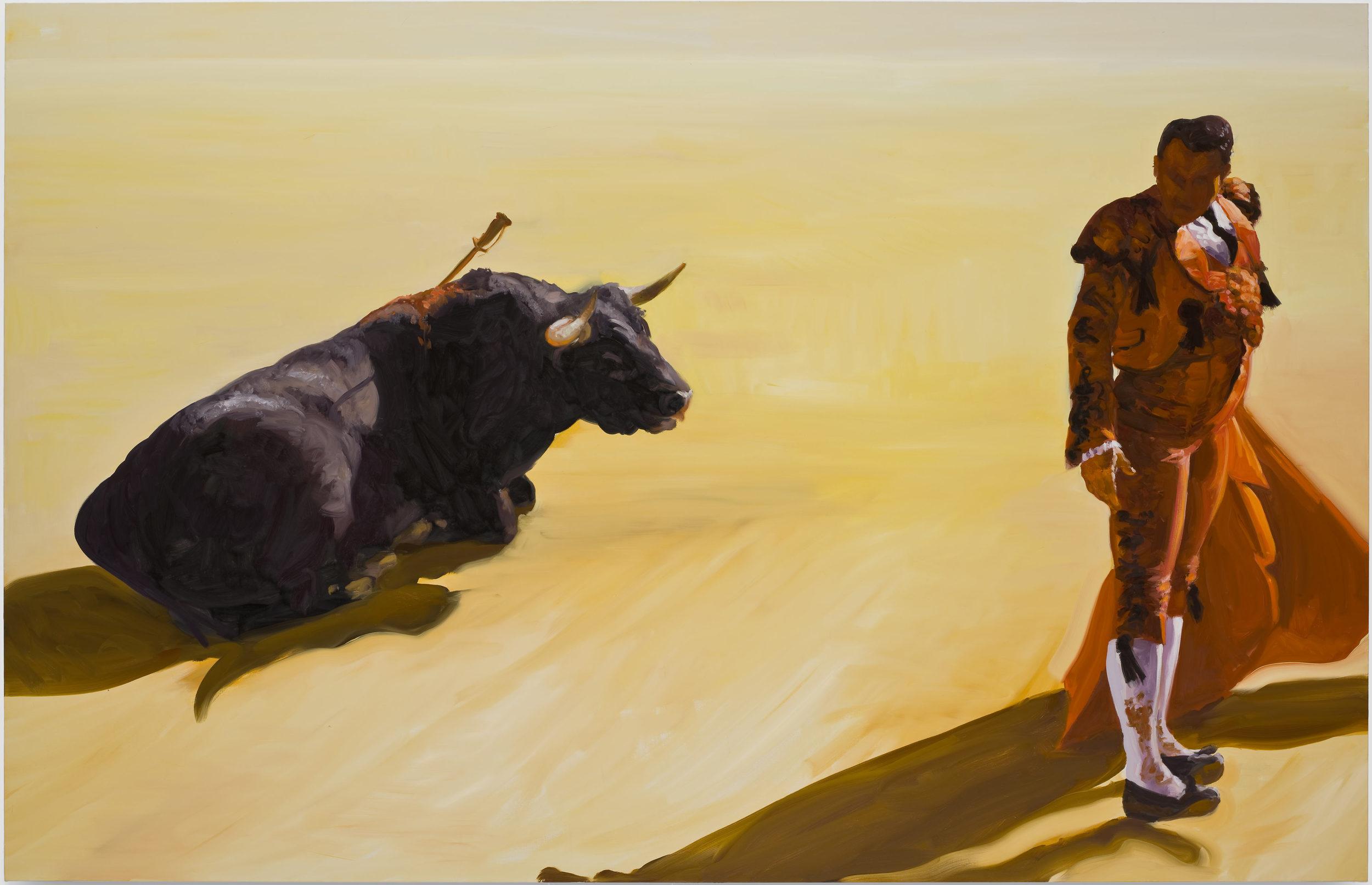 Corrida in Ronda #4, 2008. Oil on Linen. 78 x 120 in. (198 x 305 cm.)
