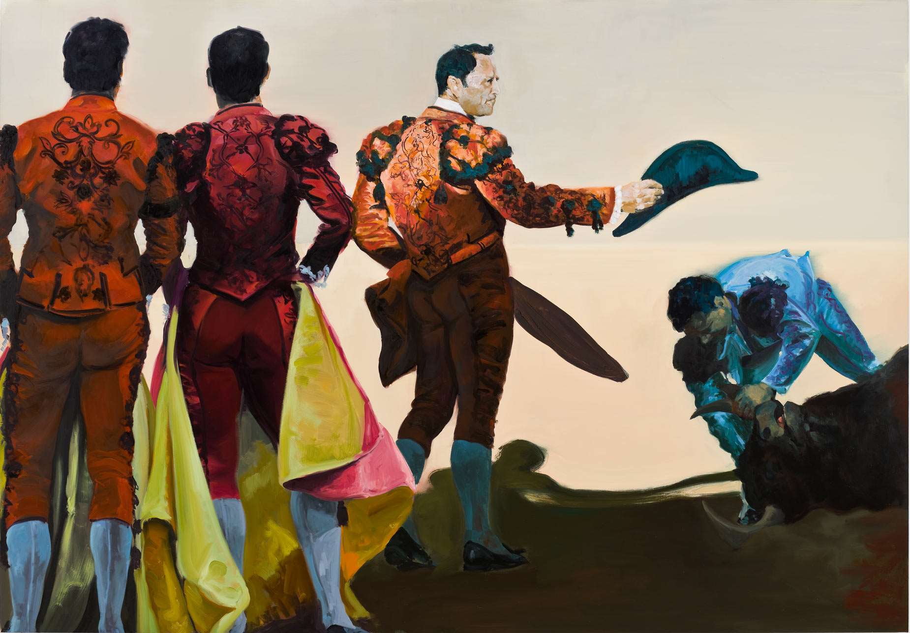 Corrida in Ronda #6, 2008. Oil on Linen. 84 x 120 in. (213 x 305 cm.)
