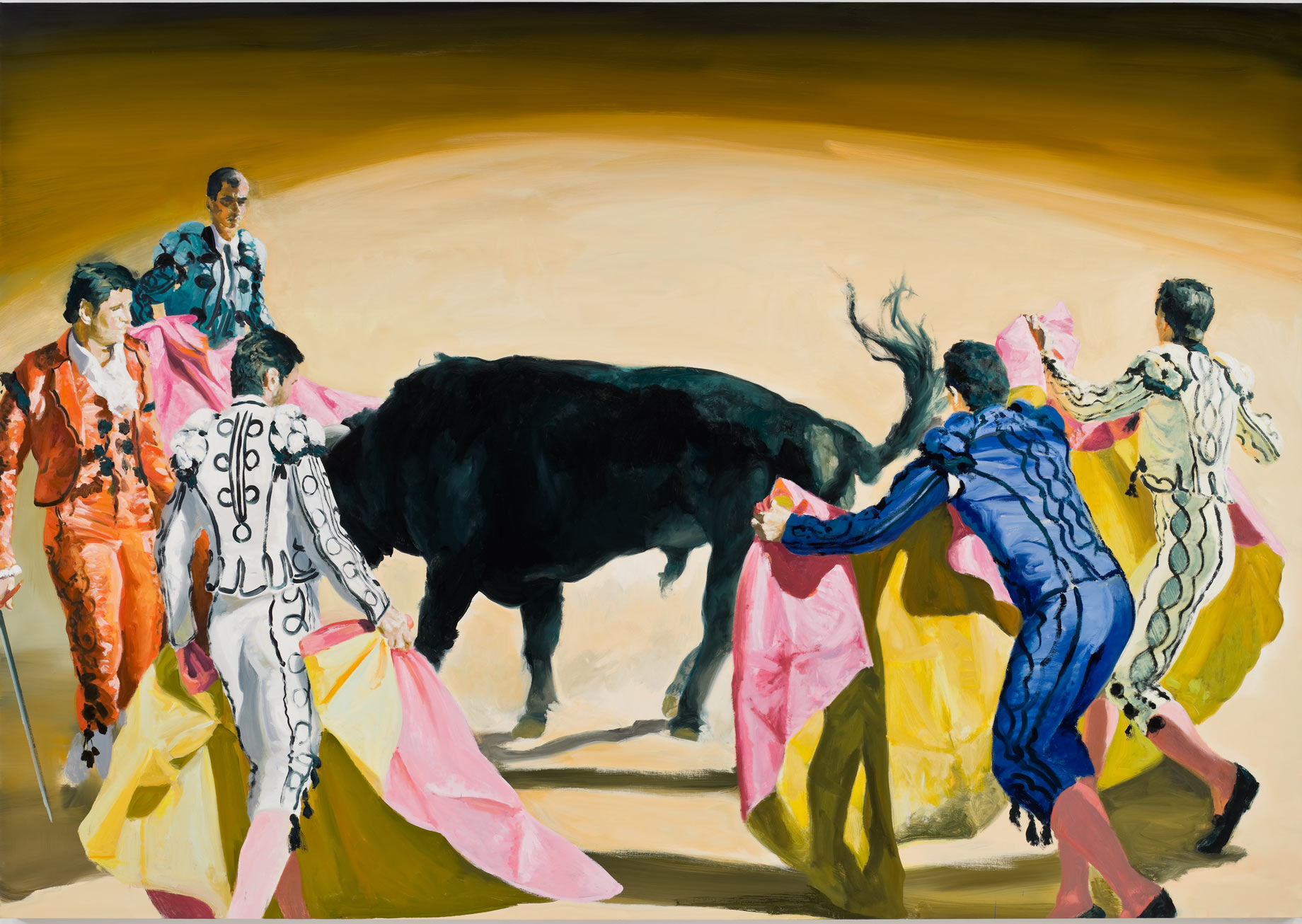 Corrida in Ronda #7, 2008. Oil on Linen. 84 x 120 in. (213 x 305 cm.)