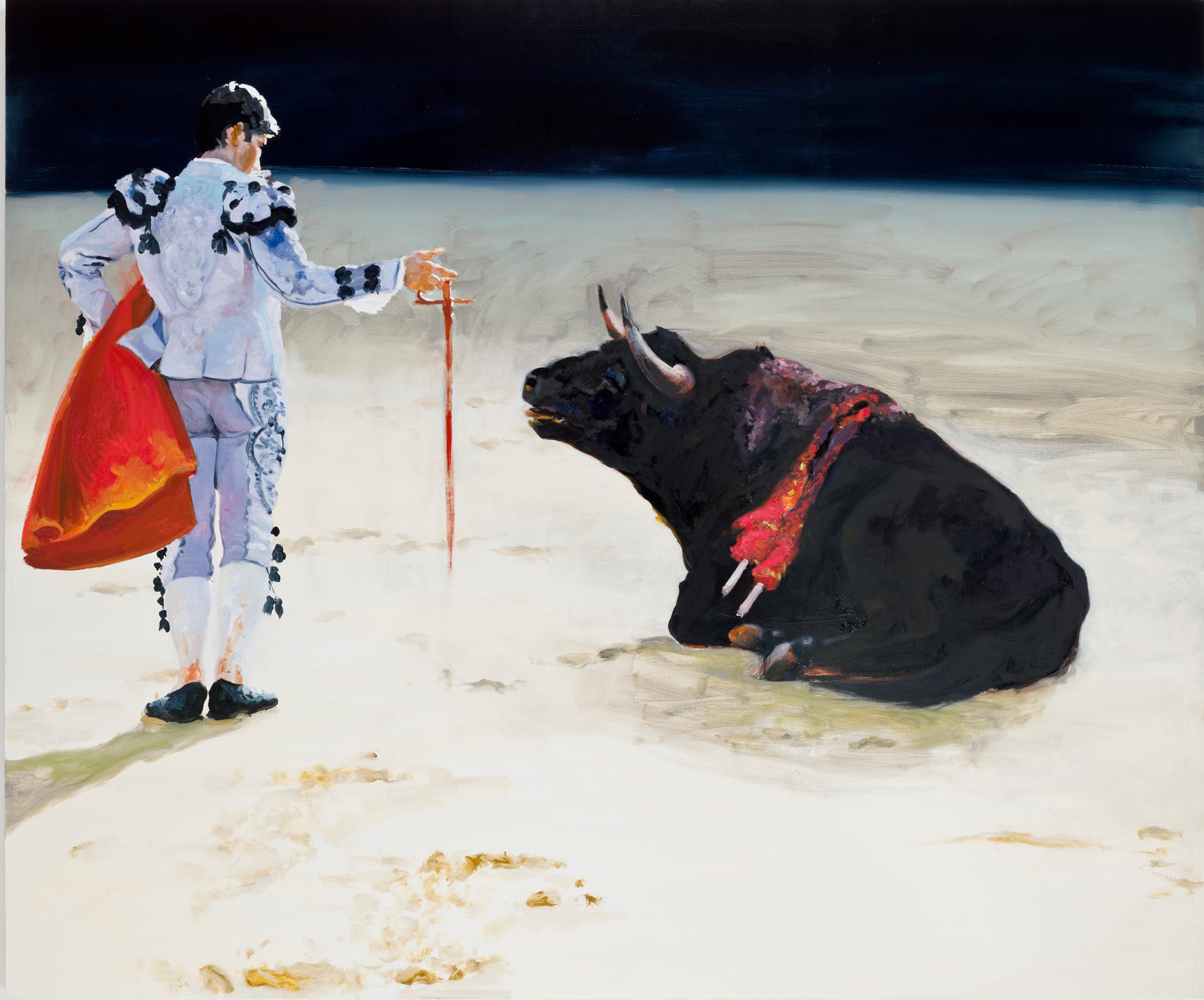 Corrida in Ronda #8, 2009. Oil on Linen. 90 x 108 in. (229 x 274 cm.)