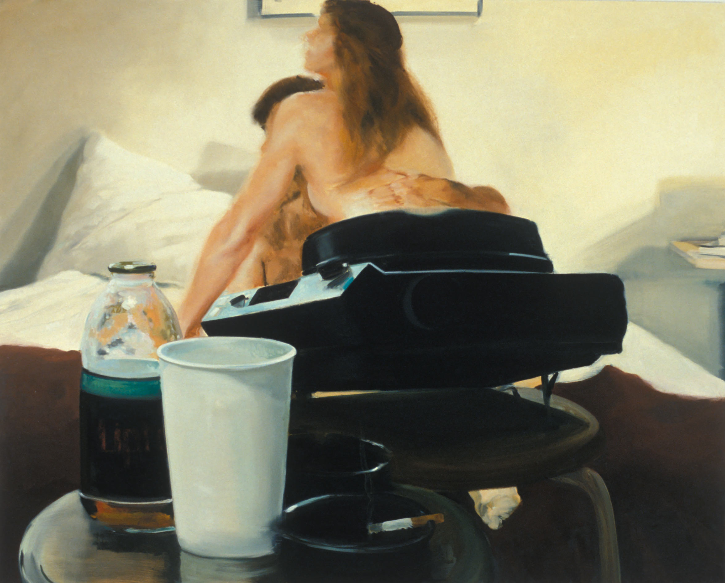 The Bed, The Chair, Projection, 2001. Oil on linen. 72 x 90 in. (183 x 229 cm.)