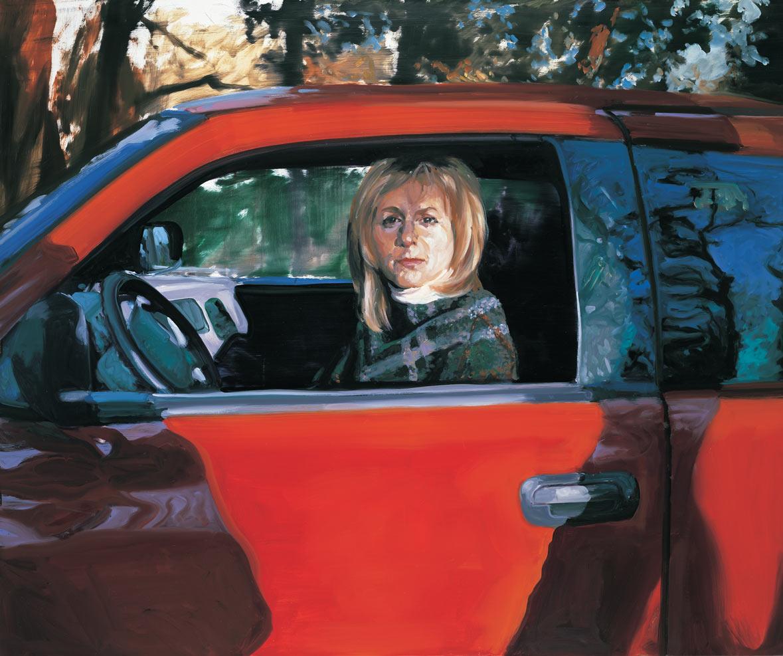 Christie Sitting in Neil's Truck, 2004.