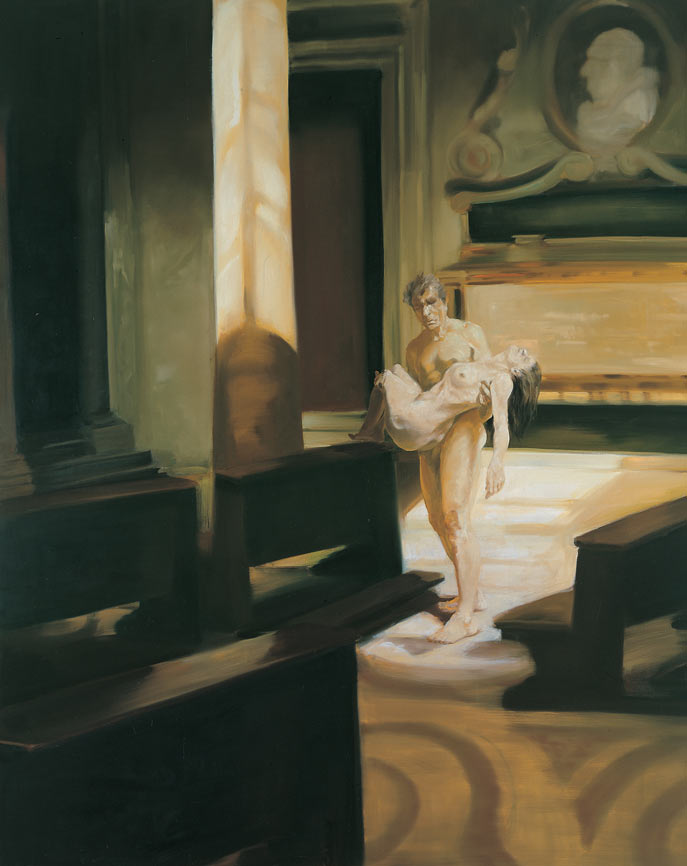 Once Where We Looked to put Down our Dead, 1996. Oil on linen. 98 x 80 in. (249 x 203 cm.)