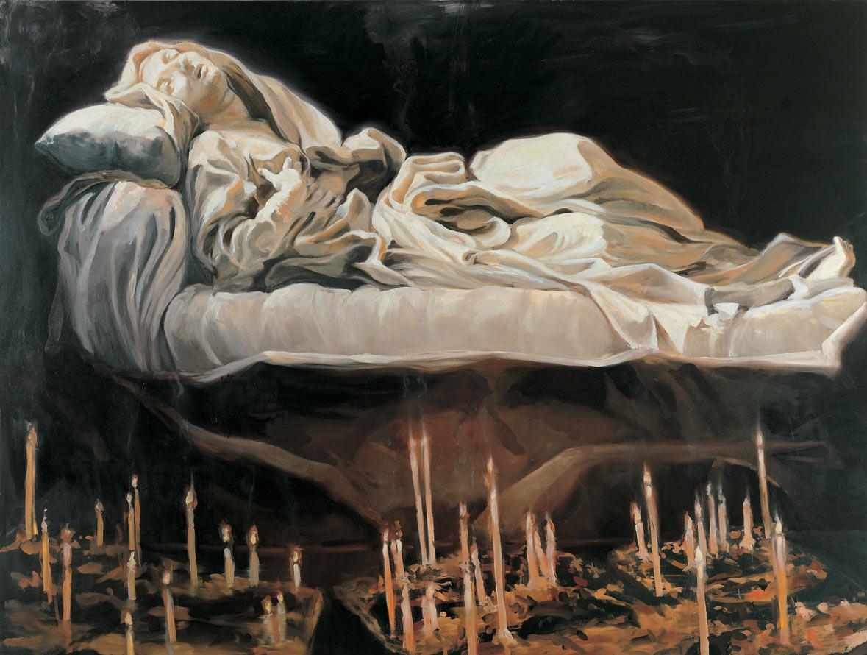 Beata Ludovica, 1996. Oil on linen. 74 x 98 in. (188 x 249 cm.)