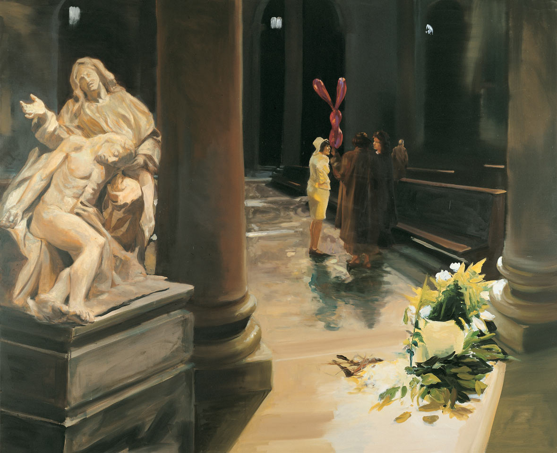If the Dead had Ears, 1996. Oil on linen. 80 x 98 1/4 in. (203 x 250 cm.)