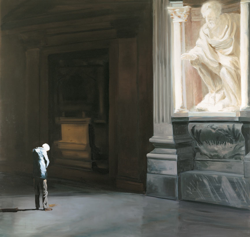 Anger, Remorse, Fear or Incontinence, 1996. Oil on linen. 98 x 103 in. (249 x 262 cm.)