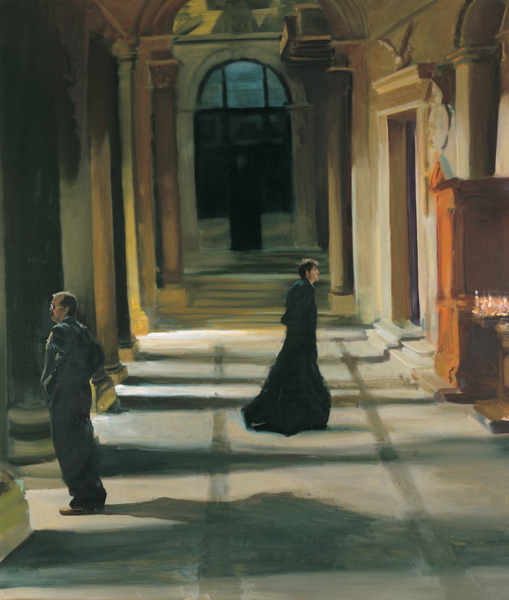 How Exciting would it be to Hear...(the Confessions of a Mafia Don), 1996. Oil on linen. 68 x 58 in. (173 x 147 cm.)