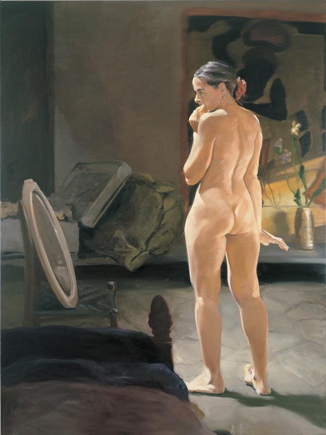 The Travel of Romance; Scene III, 1994. Oil on linen. 72 x 54 in. (183 x 137 cm.)