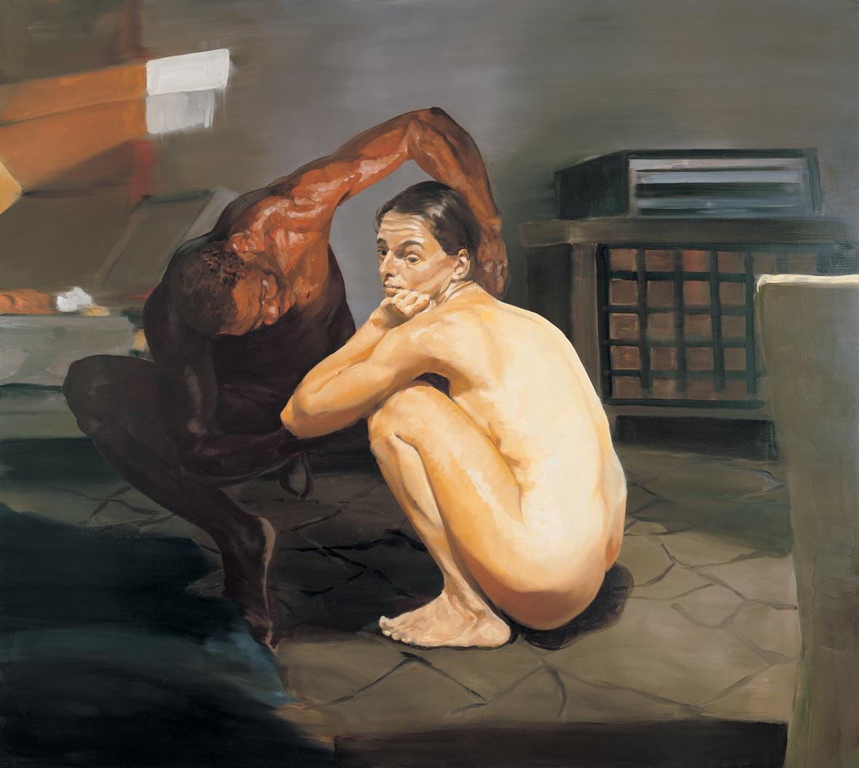 The Travel of Romance; Scene I, 1994. Oil on linen. 58 x 65 in. (147 x 165 cm.)
