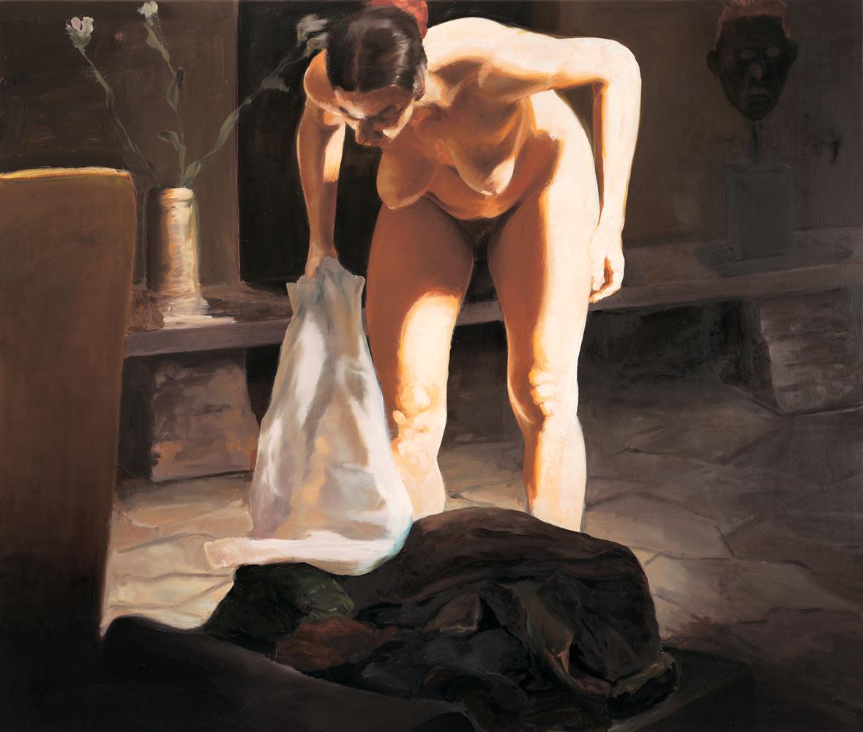 The Travel of Romance; Scene IV, 1994. Oil on linen. 55 x 65 in. (140 x 165 cm.)