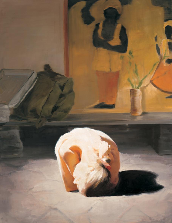 The Travel of Romance; Scene V, 1994. Oil on linen. 70 x 54 in. (178 x 137 cm.)