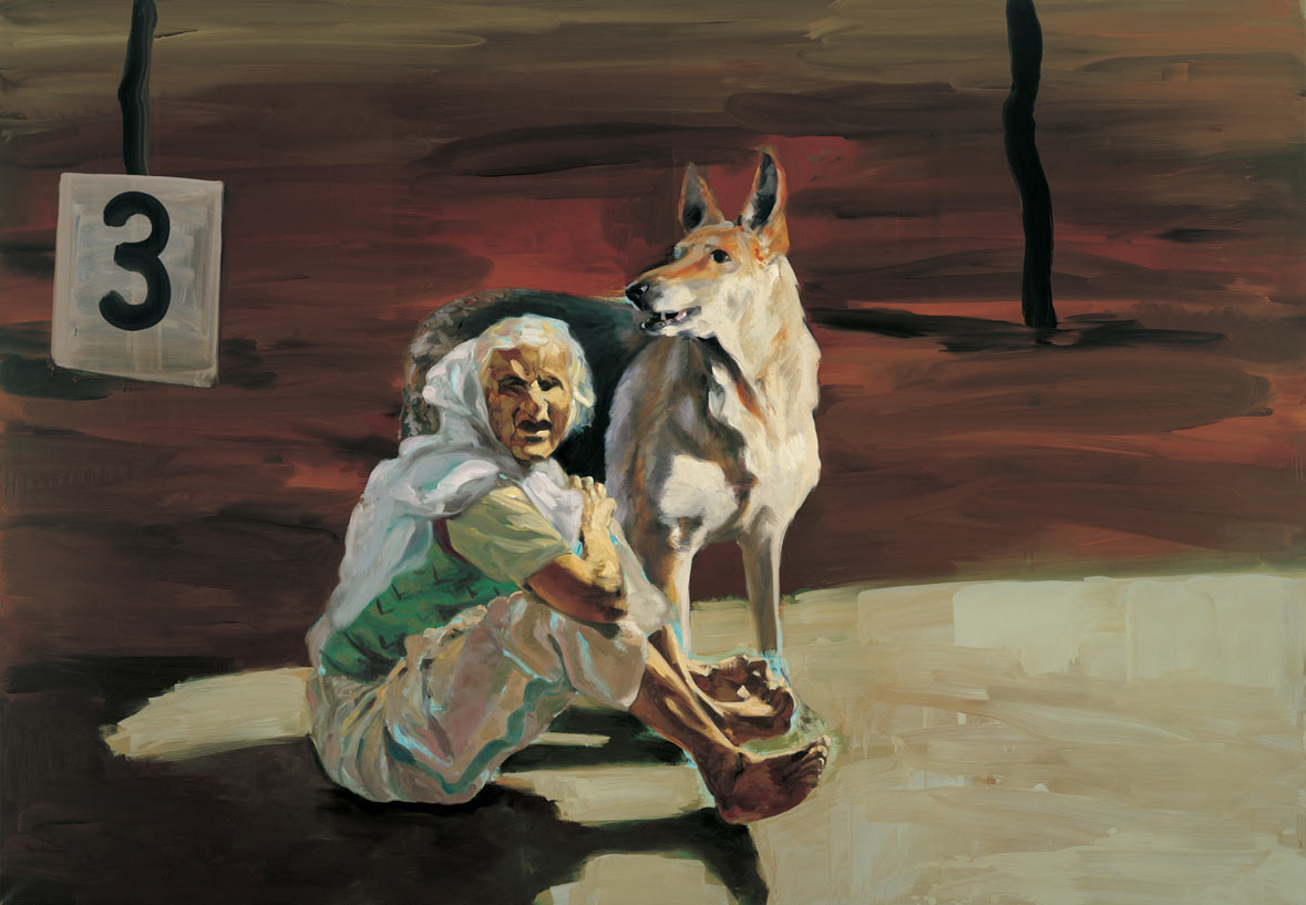 Dog Show, 1989. Oil on linen. 68 x 98 in. (173 x 249 cm.)
