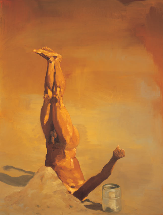Holy Man, 1990. Oil on linen. 98 x 74 in. (249 x 188 cm.)