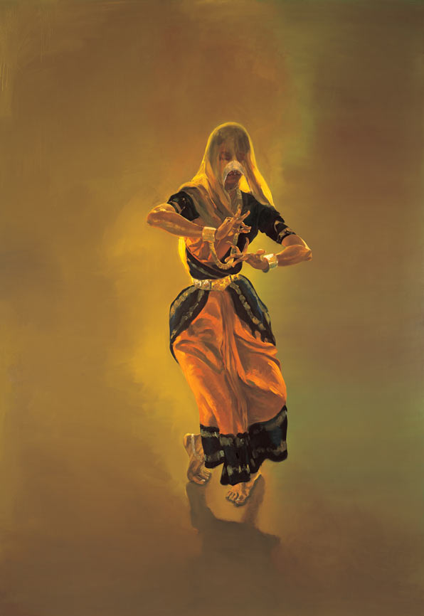 Dancer, 1990. Oil on linen. 108 x 75 in. (274 x 191 cm.)