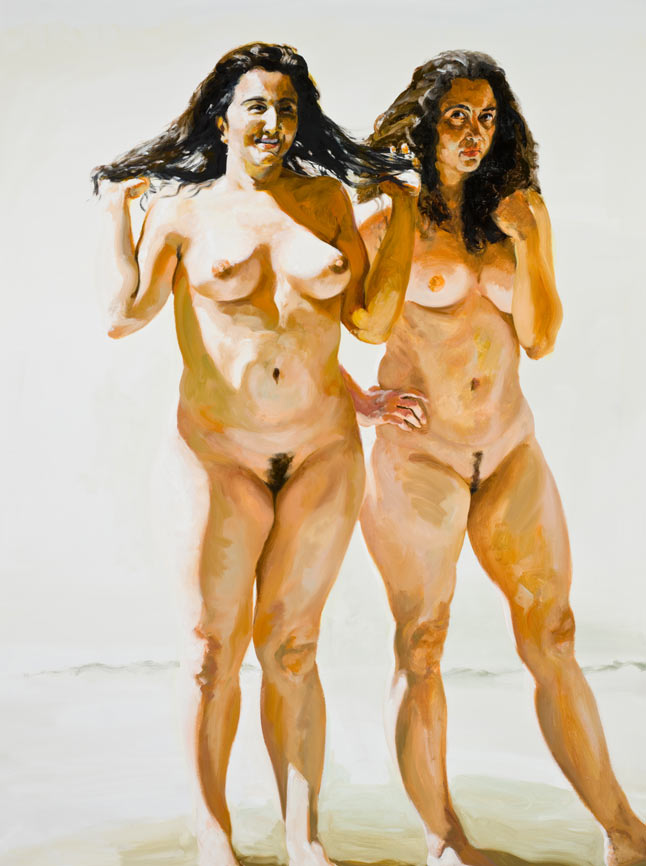 Sisters of Cythera, 2009. Oil on Linen. 84 x 63 in. (213 x 160 cm.)