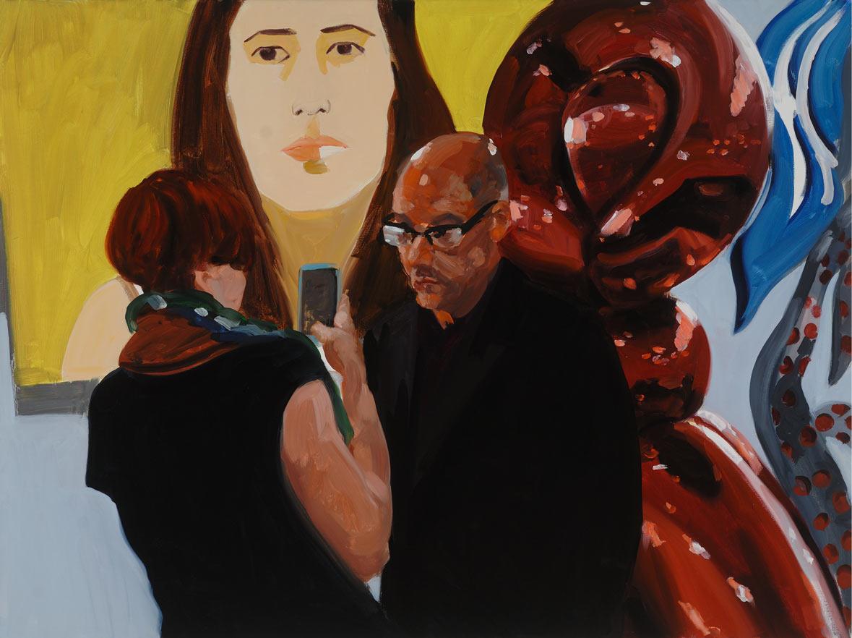"Art Fair Series ""Stare"", 2015. Oil on Linen. 36 x 48 in. (91 x 122 cm.)"