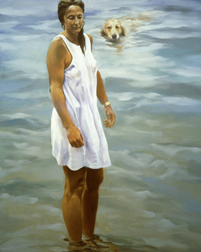 A Summer of Dog Days, 1995. Oil on linen. 74 1/4 x 58 in. (189 x 147 cm.)