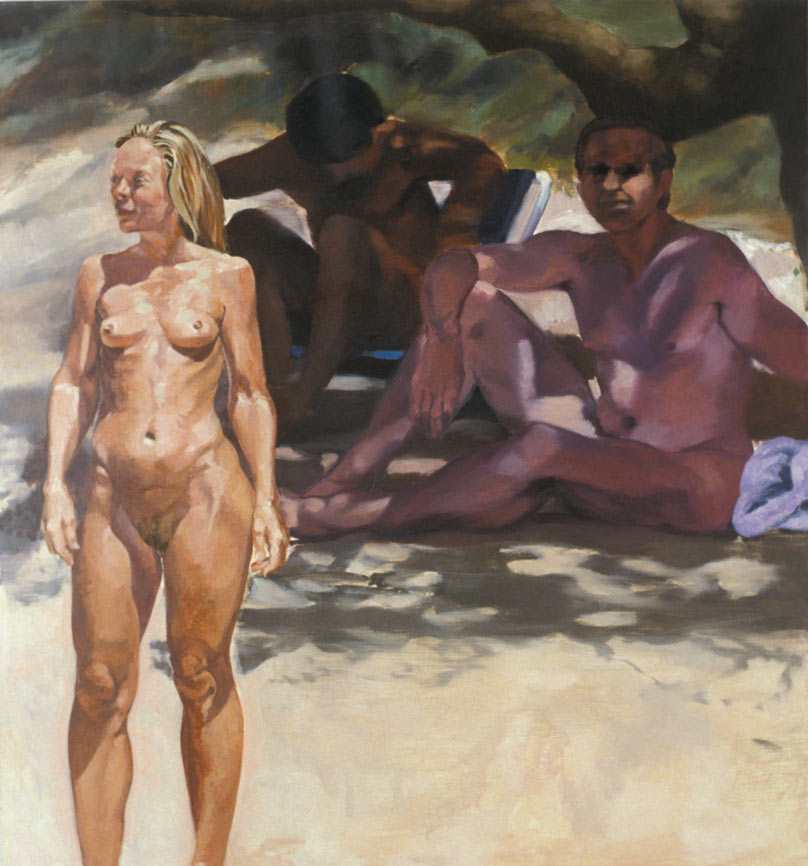 Untitled, 1992. Oil on Linen. 58 1/4 x 54 1/4 in. (148 x 138 cm.)