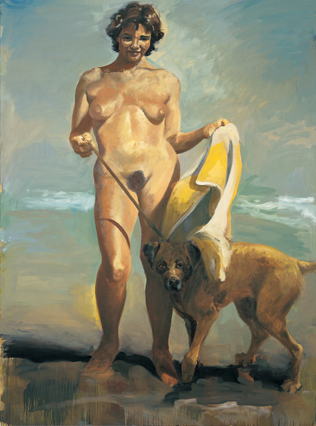 Northern Girl, 1987. Oil on linen. 80 x 60 in. (203 x 152 cm.)