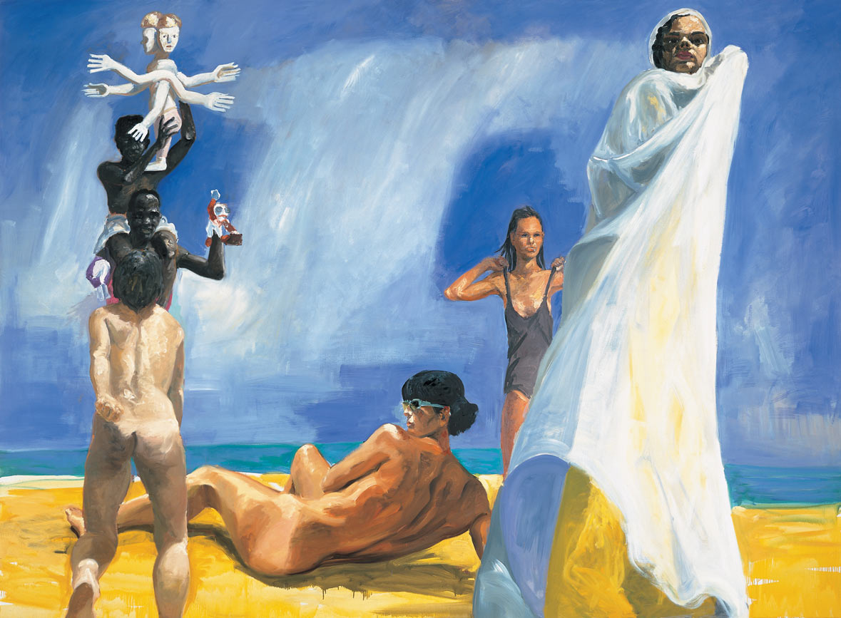 A Brief History of North Africa, 1985. Oil on Canvas. 88 x 120 in. (224 x 305 cm.)