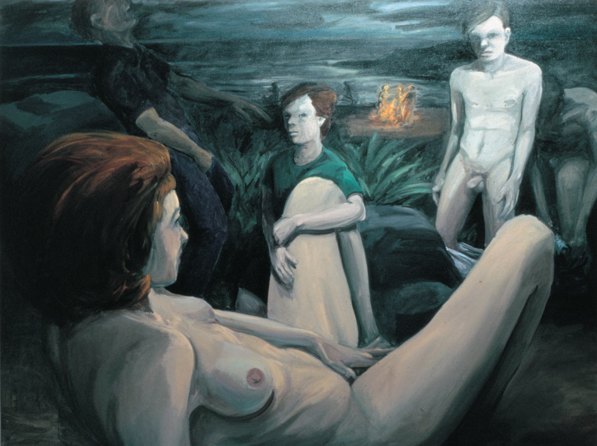 First Sex, 1981. Oil on Canvas. 68 x 96 in. (173 x 244 cm.)