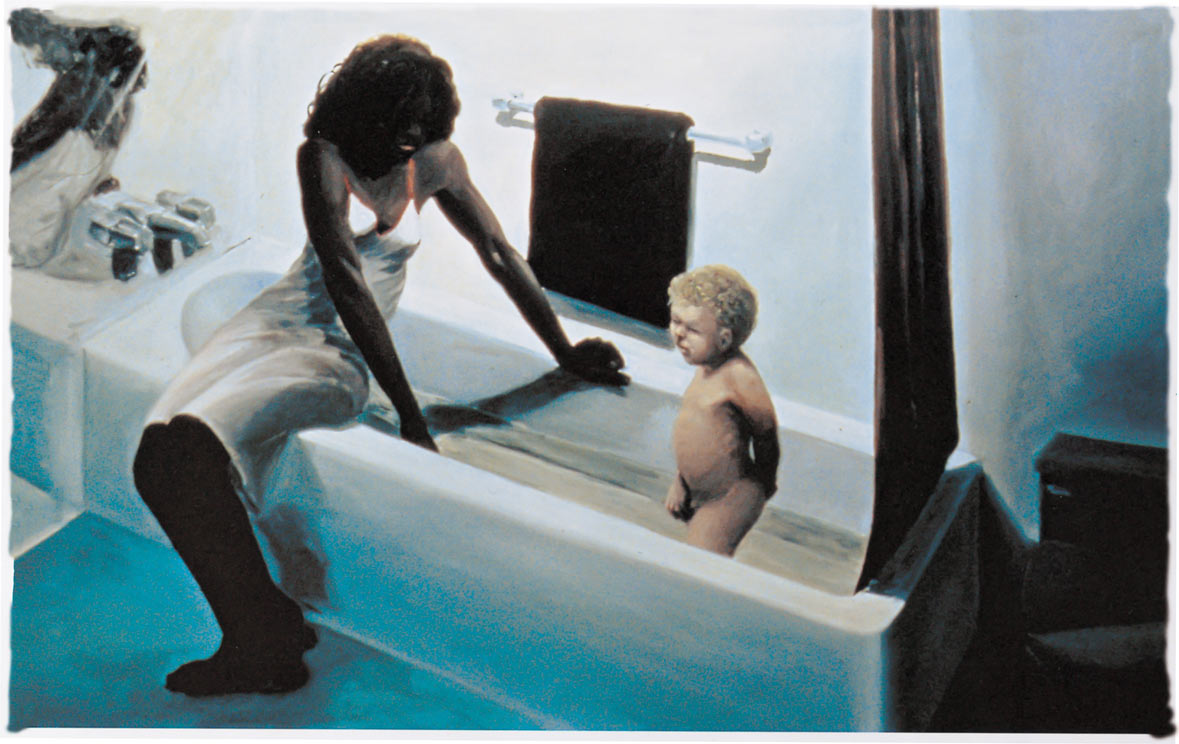 Help, 1980. Oil on Canvas. 60 x 96 in. (152 x 244 cm.)