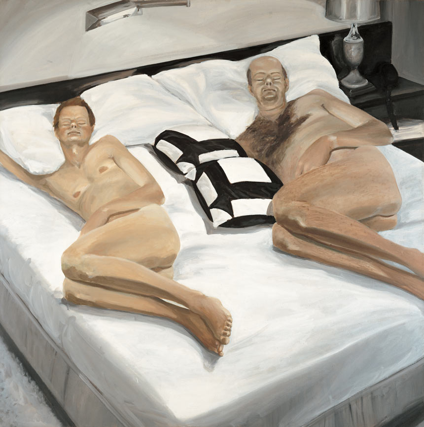 Father and Son Sleeping, 1980. Oil on Canvas. 72 x 72 in. (183 x 183 cm.)