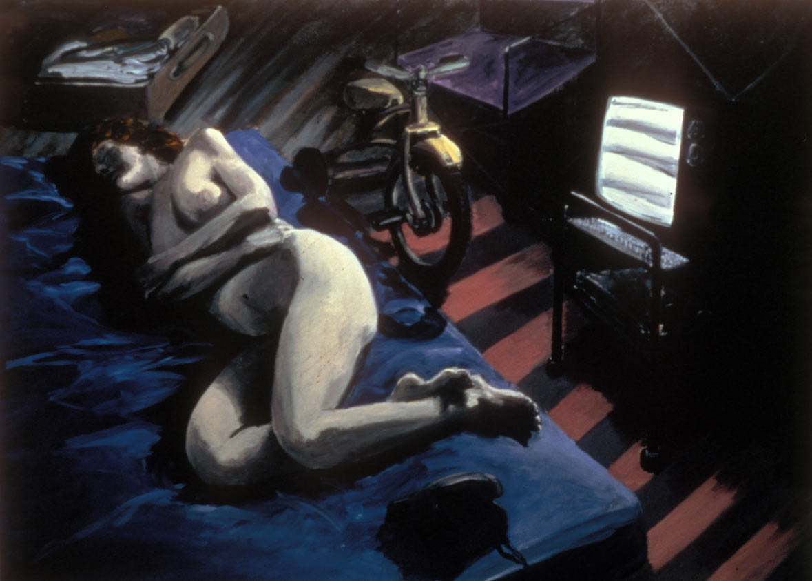 The Visitor, 1981. Oil on Canvas. 68 x 96 in. (173 x 244 cm.)