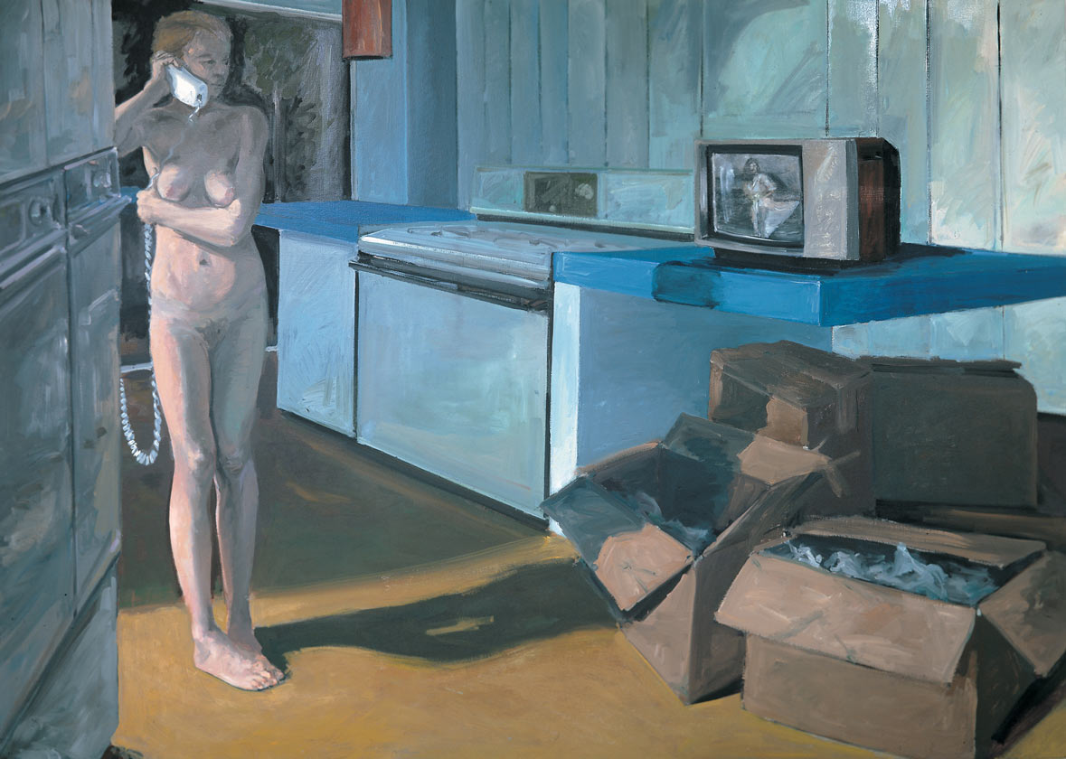 New House, 1982. Oil on Canvas. 68 x 96 in. (173 x 244 cm.)
