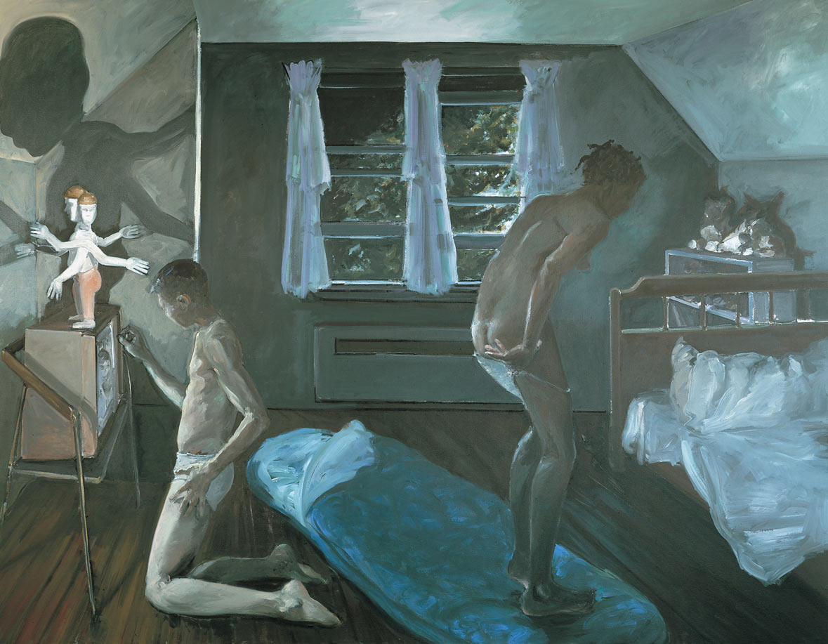 Slumber Party, 1983. Oil on Canvas. 84 x 108 in. (213 x 274 cm.)