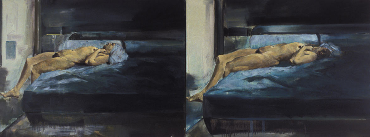 Untitled, 1987. Oil on Linen,. 45 x 120 in. (114 x 305 cm.)