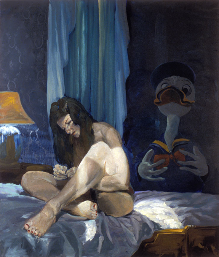 Duck, 1987. Oil on linen. 70 x 60 in. (178 x 152 cm.)