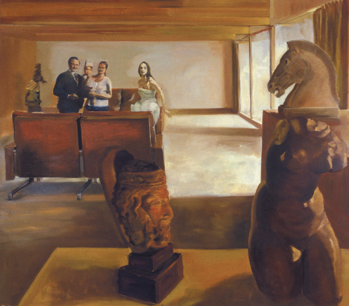 Chester's Gambit, 1991. Oil on linen. 86 x 98 in. (218 x 249 cm.)
