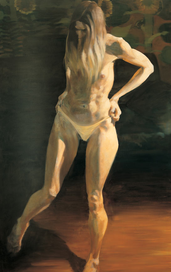 Questionable Pleasure, I, 1994. Oil on linen. 70 x 45 in. (178 x 114 cm.)