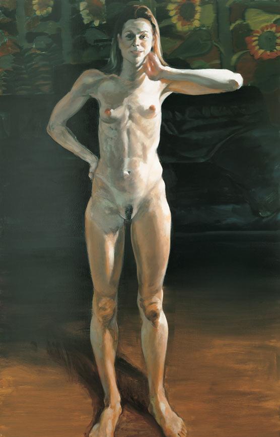 Questionable Pleasure, III, 1994. Oil on linen. 70 x 45 in. (178 x 114 cm.)