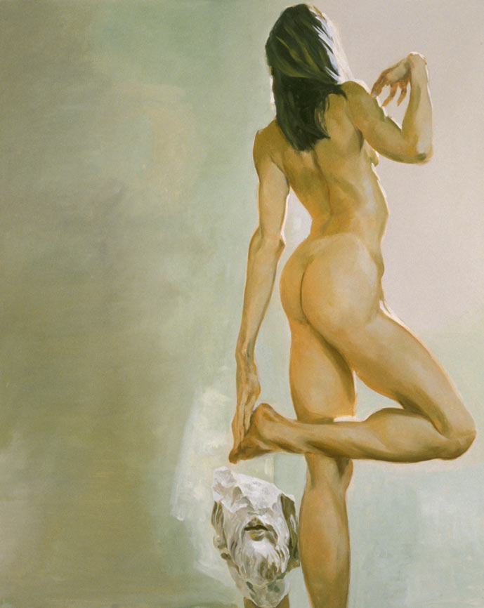 Reflection V; The Unspeakable Question, Ode to the Disembodied, 1995. Oil on linen. 72 x 58 in. (183 x 147 cm.)
