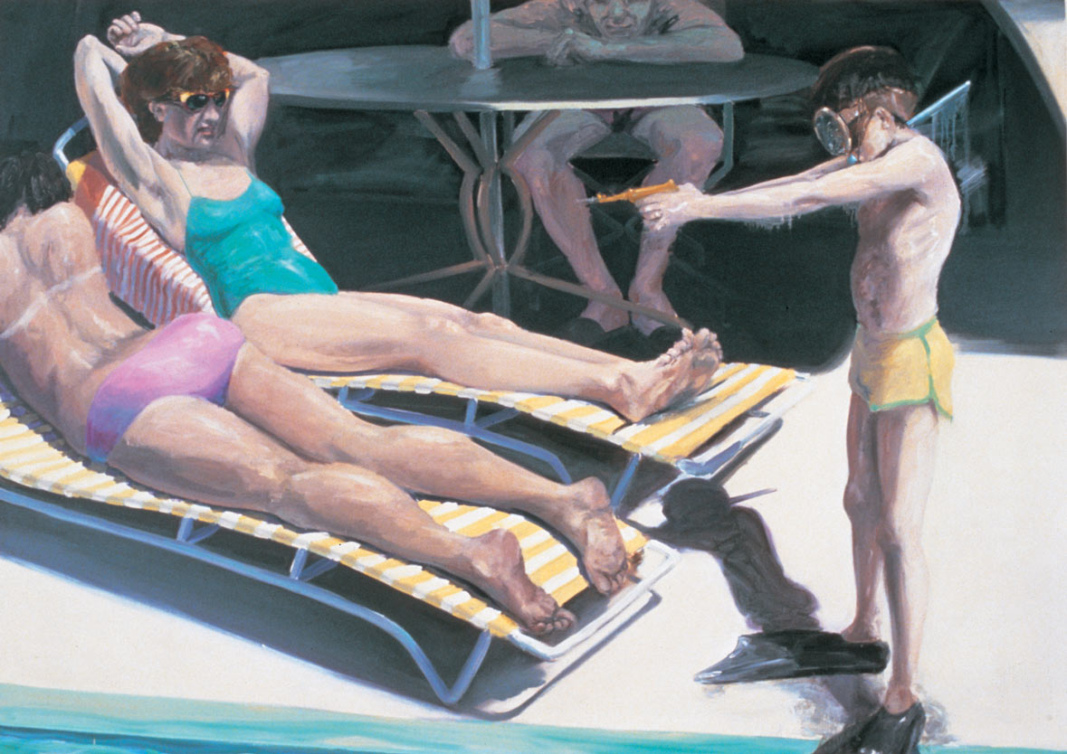 Squirt , 1982. Oil on Canvas. 68 x 96 in. (173 x 244 cm.)