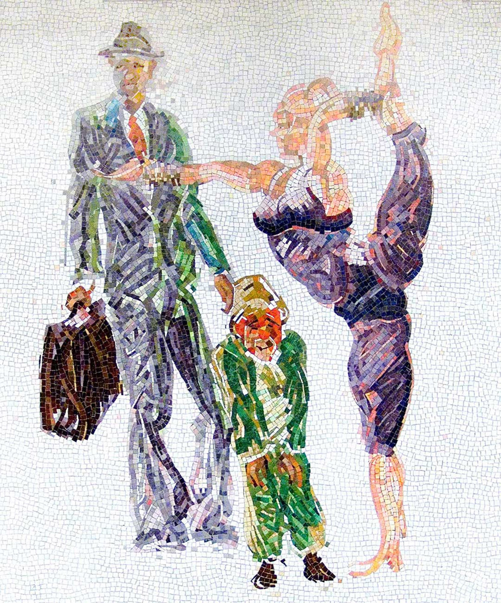 Garden of Circus Delights, 2001. glass mosaic, 96 x 72 in.