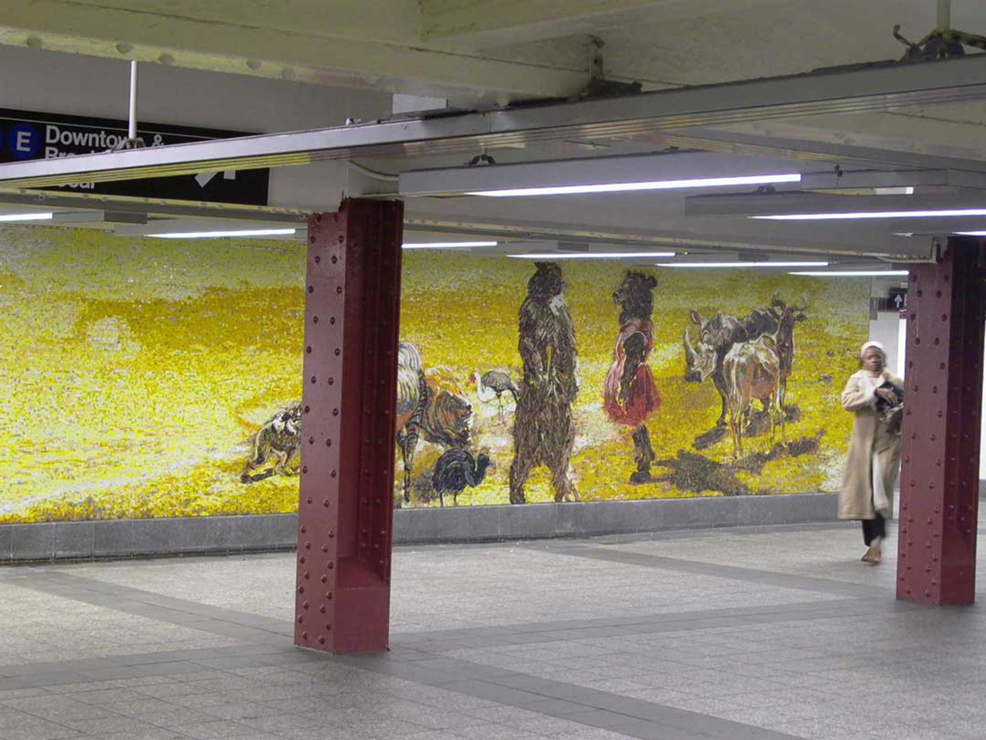 Garden of Circus Delights: Peaceable Kingdom, 2001. glass mosaic 72 x 35ft